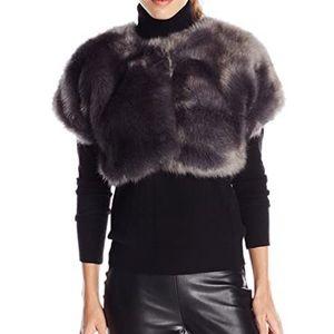 Parker Gray Fur Shrug NWT